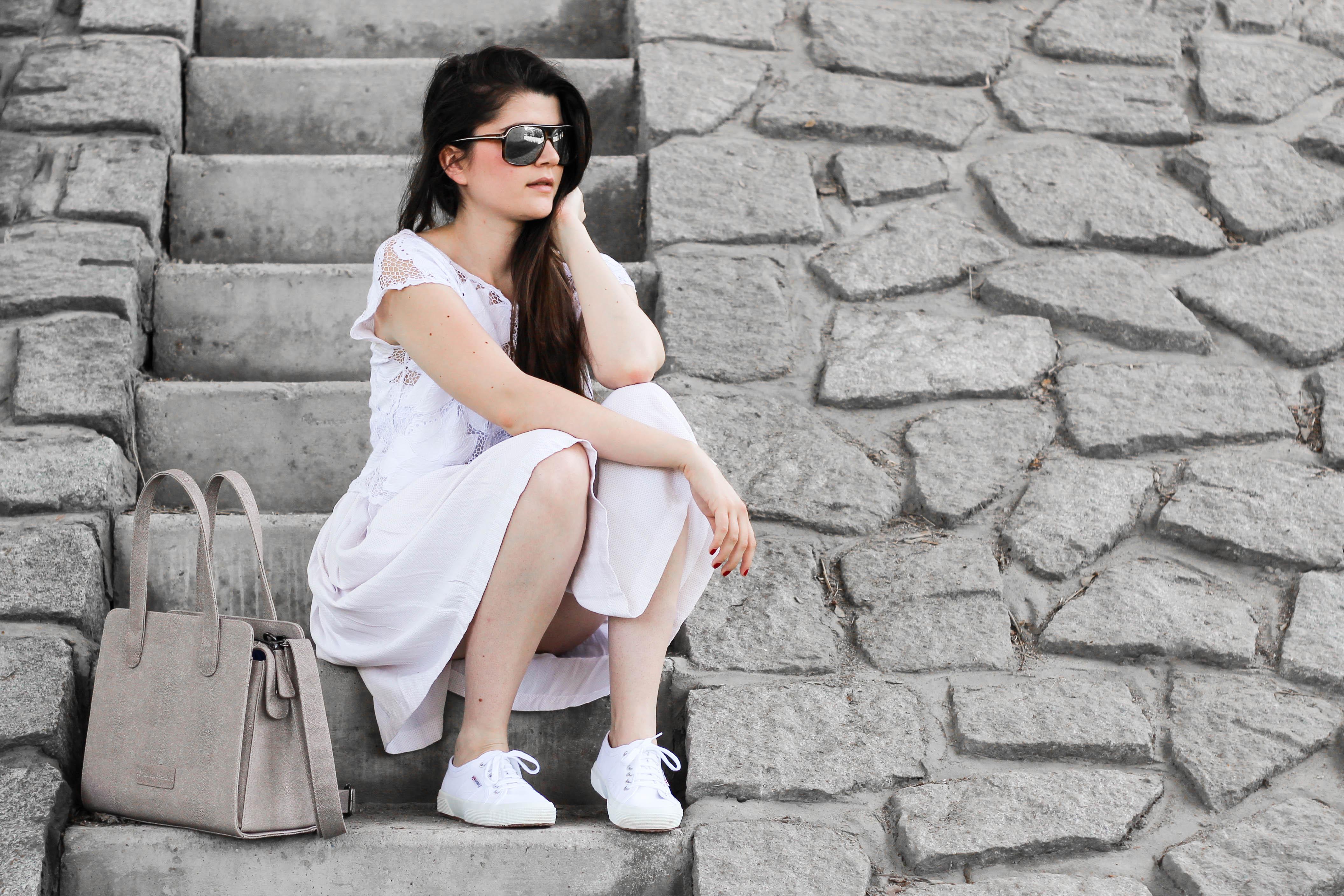 All white Vintage